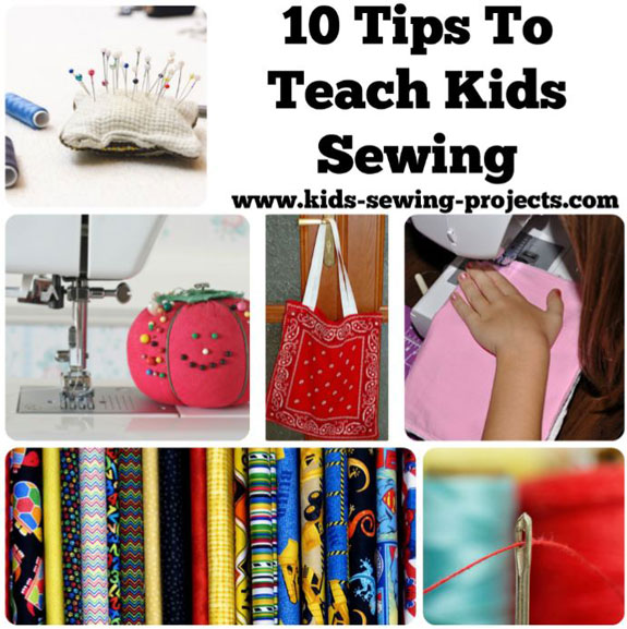 10 tips to teach kids to sew