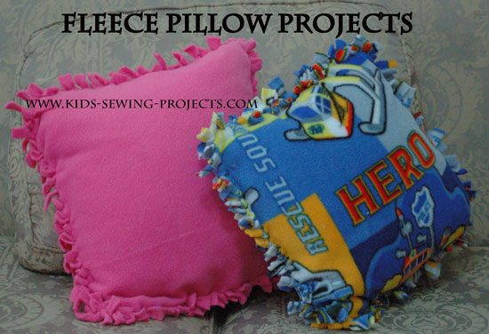 fleece pillow projects