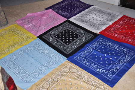 bandannas sewn together