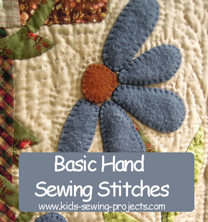 basic hand stitches for hand sewing