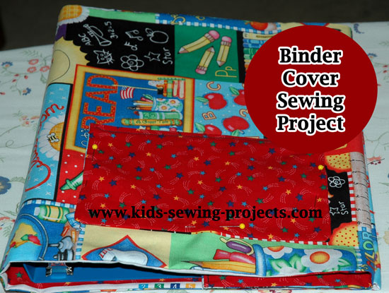 pinning pocket of binder cover
