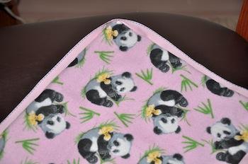 sewn trim on blanket