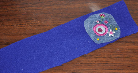 cell phone strip material decorated