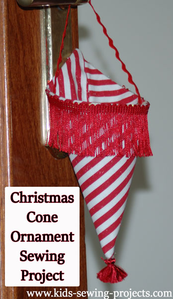 christmas cone ornament project