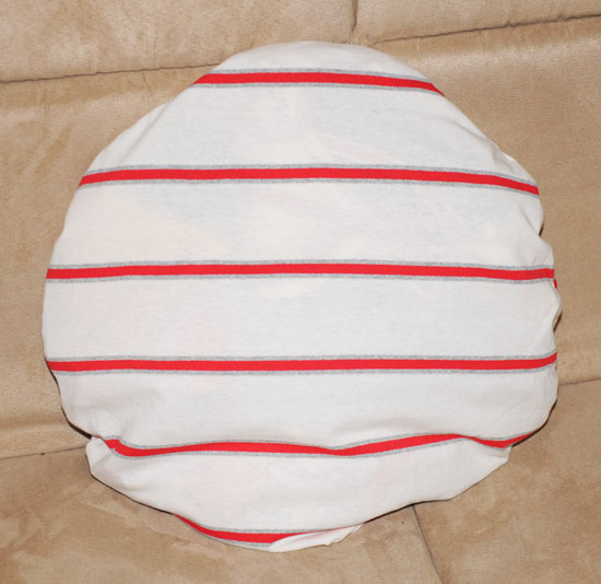circle pillow project done
