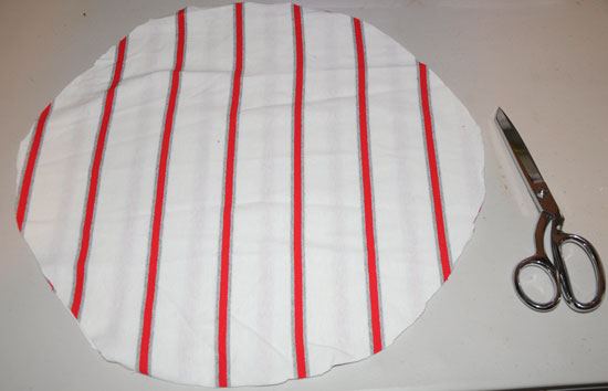 circle pillow cut out