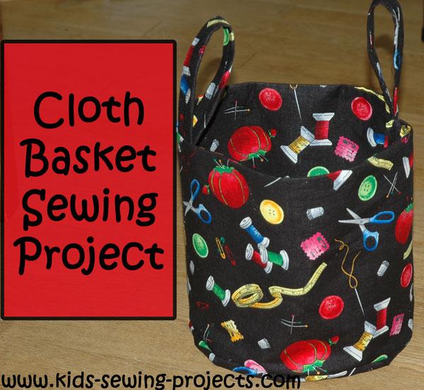 finished cloth basket