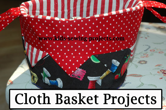 Cloth basket sewing project