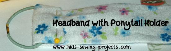 headband with ponytail