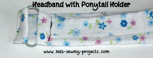 headband with ponytail holder