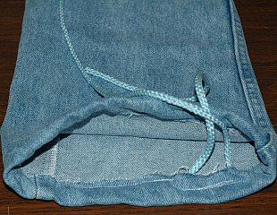 jean drawstring bag