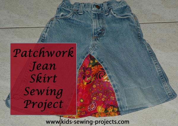 jean skirt done