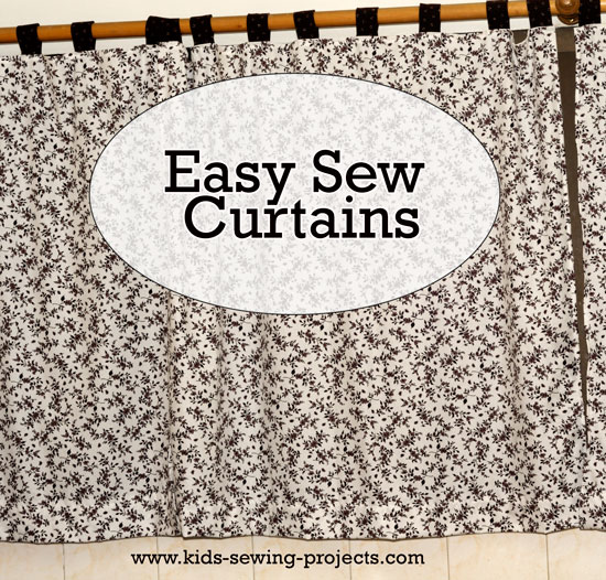 easy sew kitchen curtains