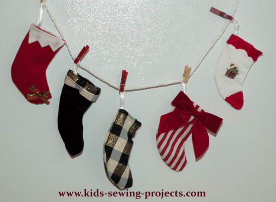 mini Christmas stockings decorated