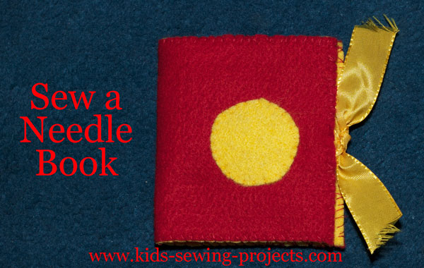 needle book hand sewing project