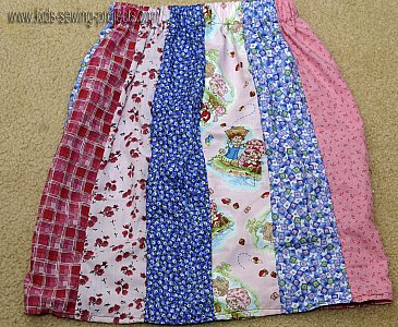 stripe patchwork skirt
