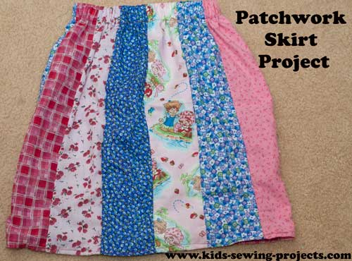Using scraps to make a patchwork skirt
