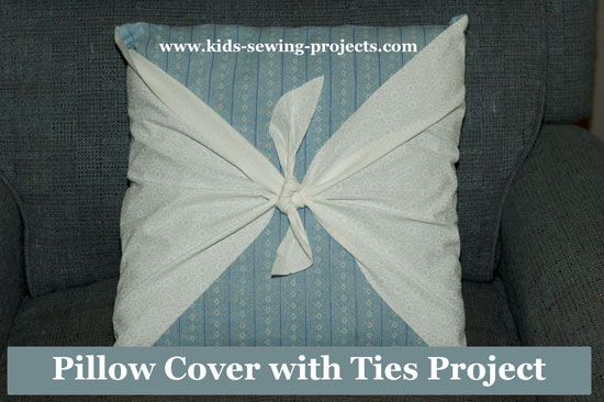 pillow cover with ties