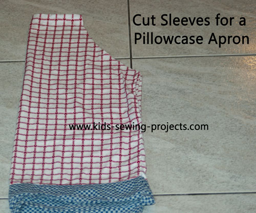 cut corner of pillowcase