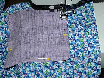 sew pocket placemat