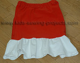 t-shirt skirt with ruffle