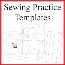 sewing practice template