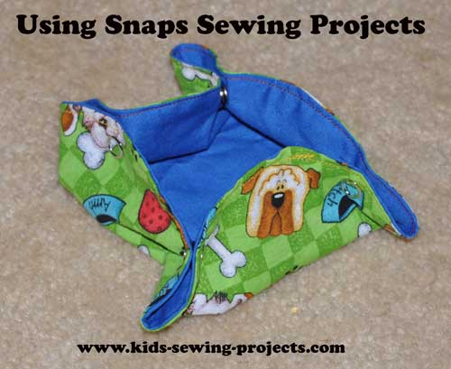 Using snaps for sewing projects