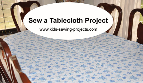 tablecloth sewing