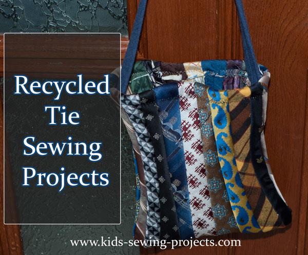 recycle tie sewing bag