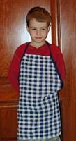 sew an apron from a dishtowel