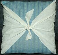 pillow with ties