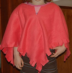poncho fleece