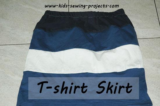 tshirt strips skirt