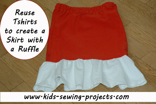 t-shirt skirt with ruffle