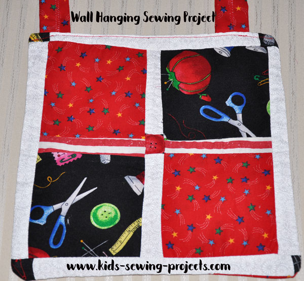wall hanging sewing project