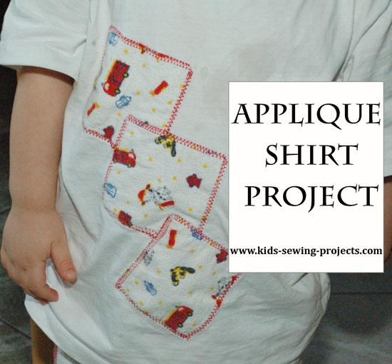 appplique shirt project