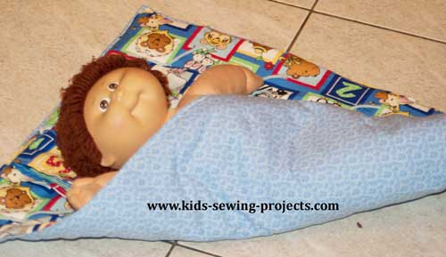 baby doll blanket sewing project