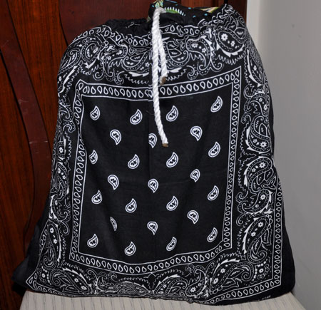 bandanna drawstring bag project
