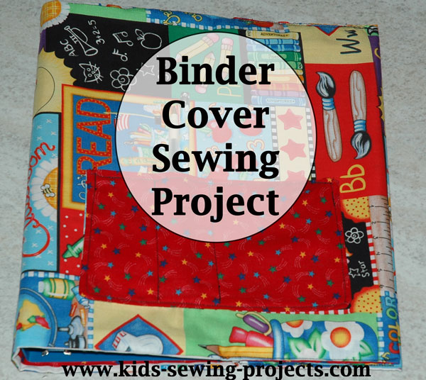 binder cover sewing project