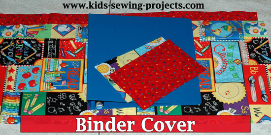 binder cover sewing project supplies