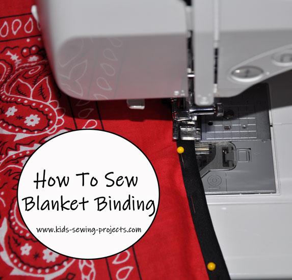 how to sew blanket binding