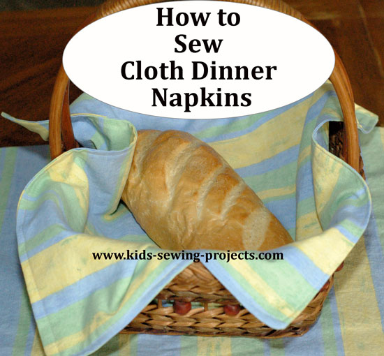 sewing cloth dinner napkins