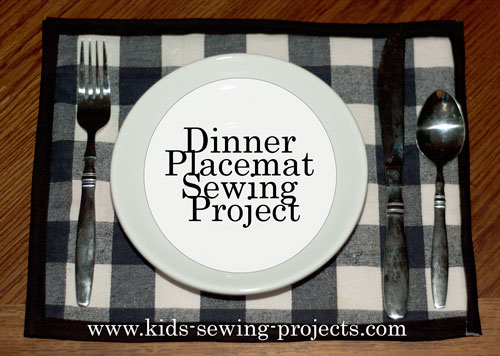 dinner placemat sewing project