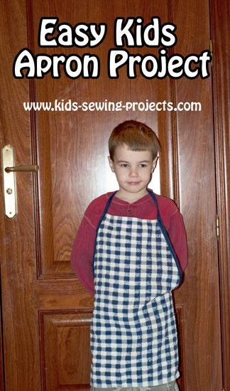 kids apron from dishtowel
