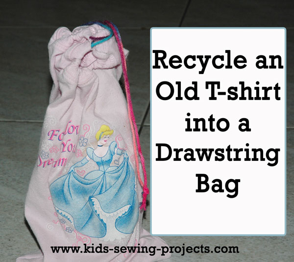 t shirt drawstring bag
