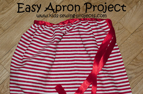 gathered apron sewing project