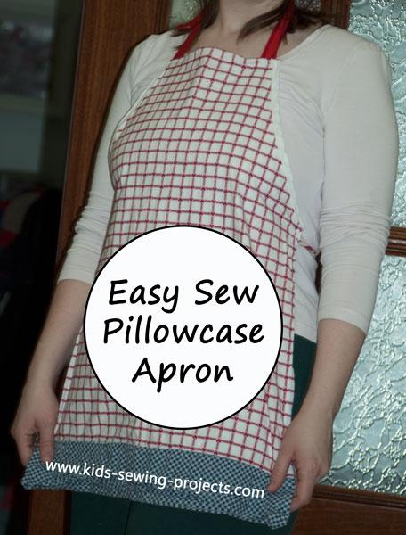 easy pillow case apron