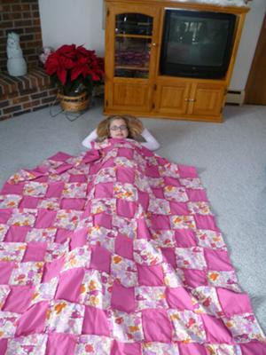 frayed quilt