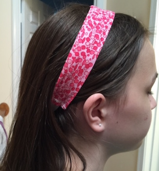 sewing a headband