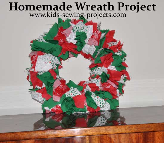 holiday wreath project- non sewing craft